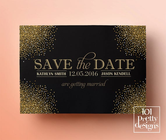 Printable Save The Date Template Gold Glitter Save The intended for Best Save The Date Business Event Templates