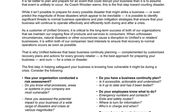 Retailer Business Continuity Plan Template In Word And Pdf pertaining to Fresh Business Continuity Management Policy Template
