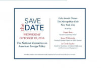 Save The Date Corporate Event   Arts – Arts in Save The Date Business Event Templates