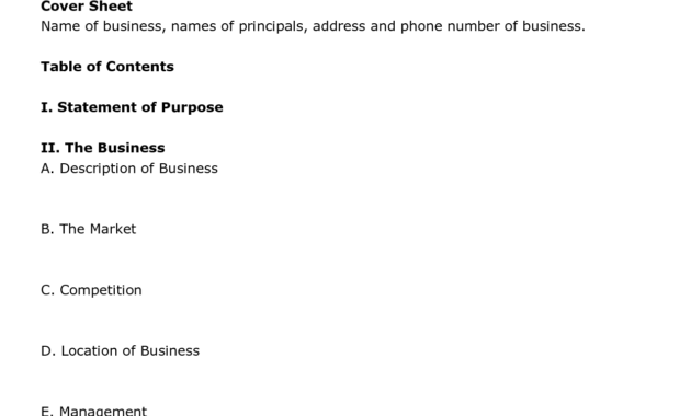 Simple Business Plan Template Excel throughout Fresh Merrill Lynch Business Plan Template