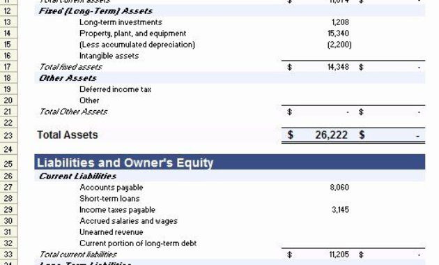 Small Business Financial Statement Template In 2020 In Financial Statement For Small Business Template
