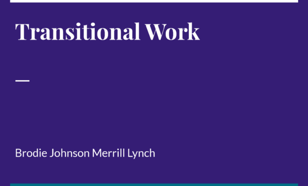 Transitional Work_ Brodie Johnson Merrill Lynch |Authorstream intended for Fresh Merrill Lynch Business Plan Template
