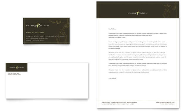 Women'S Clothing Store Business Card & Letterhead Template inside Best Clothing Store Business Plan Template Free